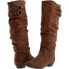 Brown slouchy boots