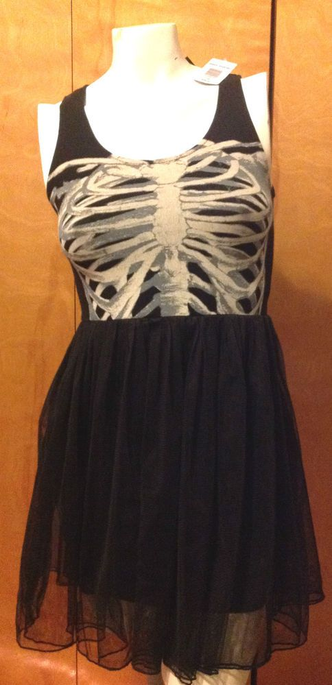 NWT Hot Topic Ribcage Dress *small* free shipping* punk* goth* #HotTopic