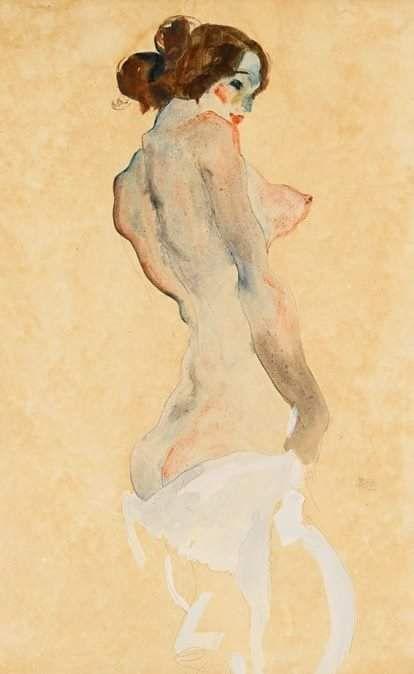 Egon Schiele - Standing nude, 1912