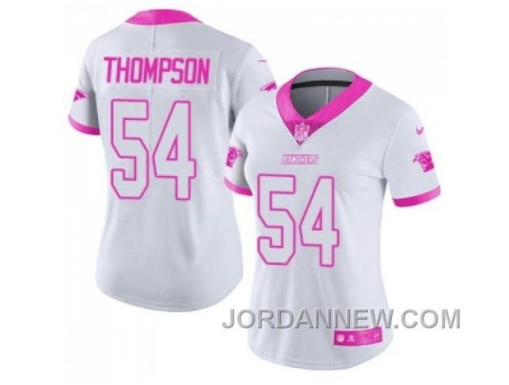 http://www.jordannew.com/womens-nike-carolina-panthers-54-shaq-thompson-white-pink-stitched-nfl-limited-rush-fashion-jersey-free-shipping.html WOMEN'S NIKE CAROLINA PANTHERS #54 SHAQ THOMPSON WHITE PINK STITCHED NFL LIMITED RUSH FASHION JERSEY FREE SHIPPING Only $23.00 , Free Shipping!