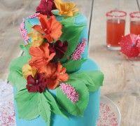 Hawaiiaanse bloemen taart - Taart - Recepten | Deleukstetaartenshop.nl