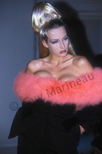 Estelle Lefébure | Guy Marineau Photography Thierry Mugler 1991 http://guymarineau-photography.com/2016/03/28/estelle-lefebure/