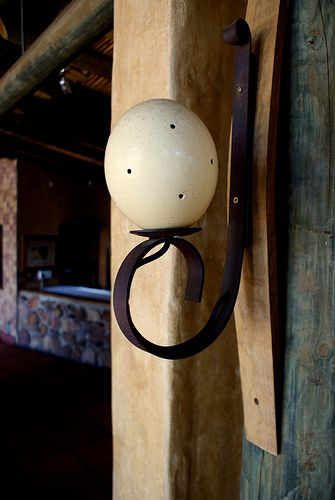 Botlierskop Private Game Reserve Dining Area Ostrich Egg Light Fixture