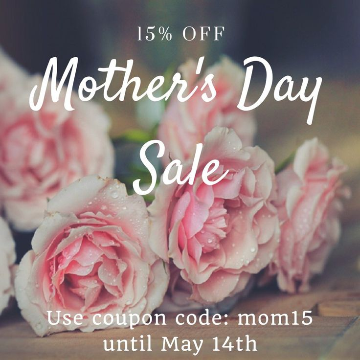 Mother's Day Sale - 15% OFF all items until May 14 Use coupon code: mom15