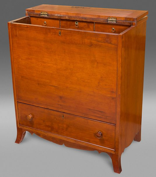 Sugar Chest 1805-1820, Fayette County, KY, cherry/poplar - 126 Best Southern Antique Furniture Images On Pinterest Antique