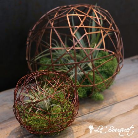 Airplant geo balls in copper.  Just beautiful!  Le Bouquet St Laurent