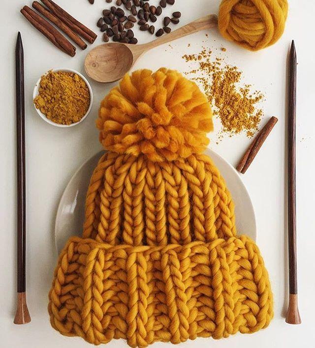 WEBSTA @ woolandmania - Bon appetit! Шапочка из #KeepCalmThisWool #WoolandMania цвета CurryФото и работа @woolen_hugs