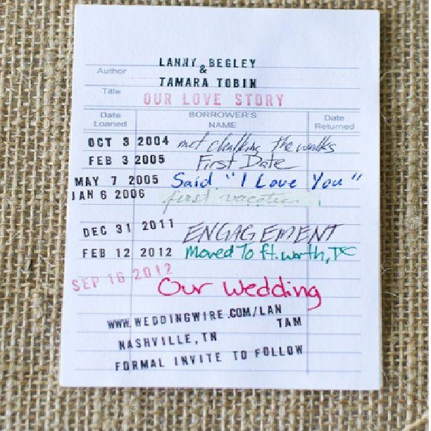 Save the date (wedding) invitation ideas