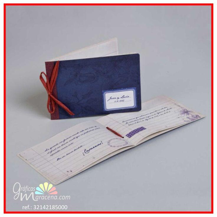 Invitación de boda 2016 - Libro escolar