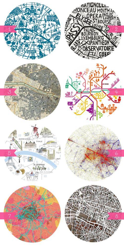 Paris Maps. 8 different options.