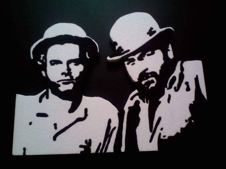 Bud Spencer Terence Hill tribute Stencil Hungarocell Szekesfehervar