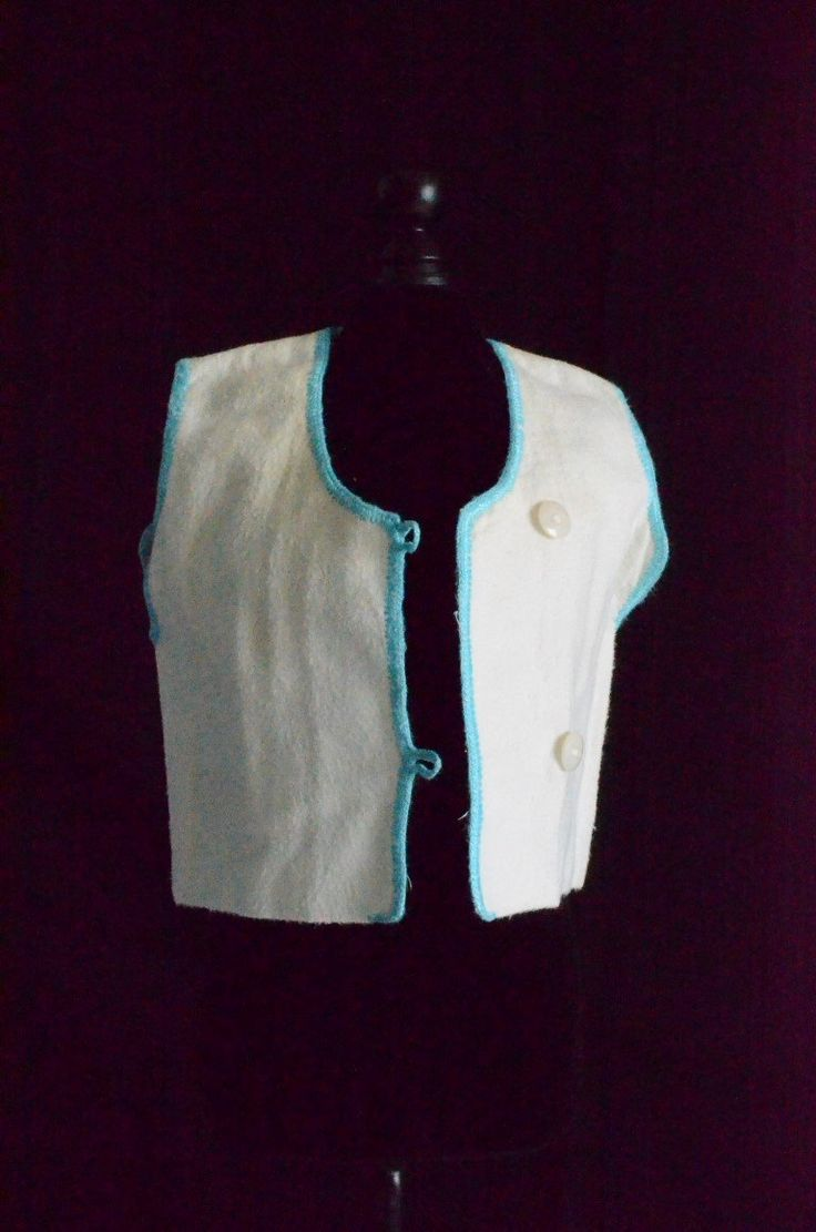 1940's NEVER-WORN Undershirts Handmade baby shirt or jacket, white Flannelette with blue embroidery trim by MadeByGrandmasHands on Etsy