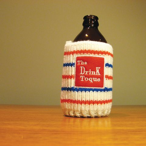 The Drink Toque - Rink Ratt  Classic, vintage-style, knit koozie. Iconically Canadian.