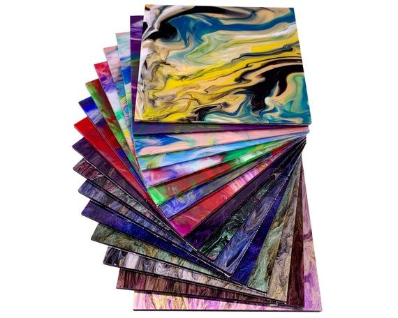 .118 3.0mm Thickness 18 Colors3 Sizes Available! One-Sided Glittering Sheets PMMA Acrylic