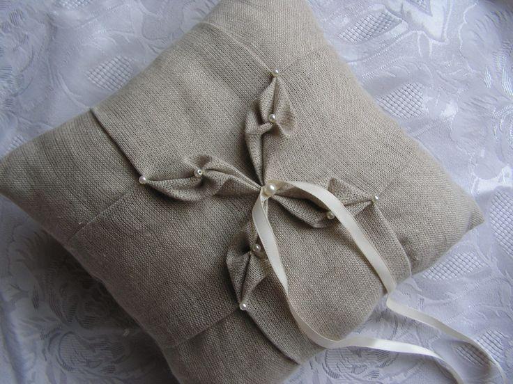подушка двери заветы мягкие/оригами/смокинг льняной серый рисунком бабочек