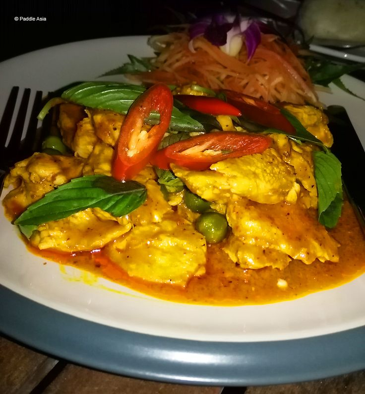 Penang Gai - chicken curry with fresh peppercorns