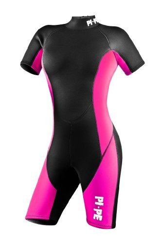 PI-PE Pure Spring S/S Women's Shorty Wetsuit - 3mm Neopren – Warm Short Sleeve Wetsuit for Watersport, Snorkling, Diving, Surfing – Super Stretchy Comfortable – Ladies – Red, Grey, Pink  http://fishingrodsreelsandgear.com/product/pi-pe-pure-spring-ss-womens-shorty-wetsuit-3mm-neopren-warm-short-sleeve-wetsuit-for-watersport-snorkling-diving-surfing-super-stretchy-comfortable-ladies/  Optimal all-round short sleeve wetsuit for swimming, surfing, snorkeling, diving and
