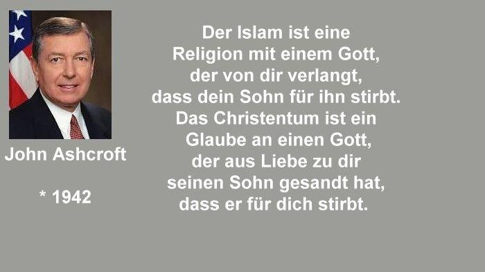 John Ashcroft - Islam und Christentum