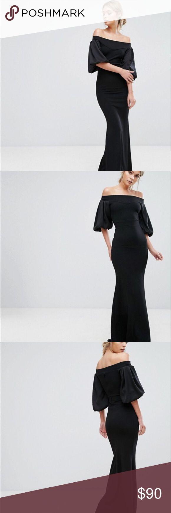 Viac ako 25 najlepch npadov na pintereste na tmu maxi dresses tfnc london karen black maxi dress uk size 6 us 2 solutioingenieria Image collections