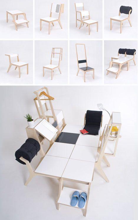 Des chaises multi-fonctions Transformers