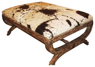 Caledonia Ottoman - rustic - ottomans and cubes - by Walter E. Smithe Furniture Inc