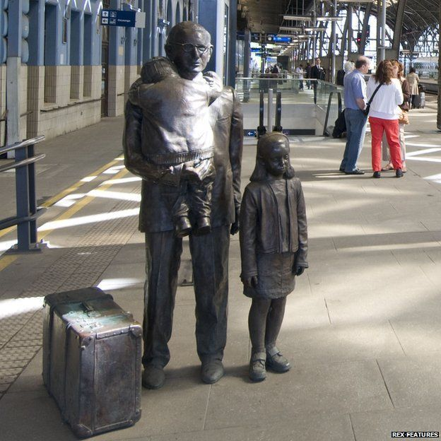 "Statue of Sir Nicholas Winton in Prague Station. - In 2007, he received the Czech Republic's highest military decoration, the Cross of the 1st Class, and was nominated by the Czech government for the 2008 Nobel Peace Prize.A train dubbed ""The Winton Train"" left Prague station on 1 September 2009. In October 2014, at the age of 105, he travelled to Prague to receive the Czech Republic's highest honour, The Order of the White  Lion. R. Posy"