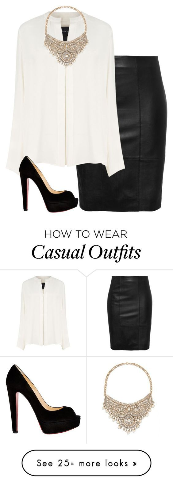 """""""NYC business casual"""" by i-am-bryana on Polyvore featuring Derek Lam, Christian Louboutin and Bebe"""