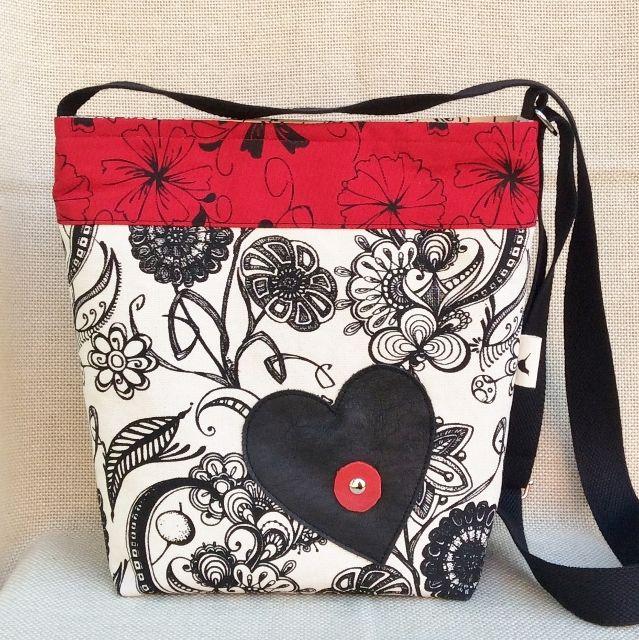 Bahia Art Sling Bag:  Textiles silk screened by hand and bag made up by Bahia Art.