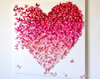 LARGE 3D Butterfly Wall Art in Rainbow Colors Rainbow by RonandNoy
