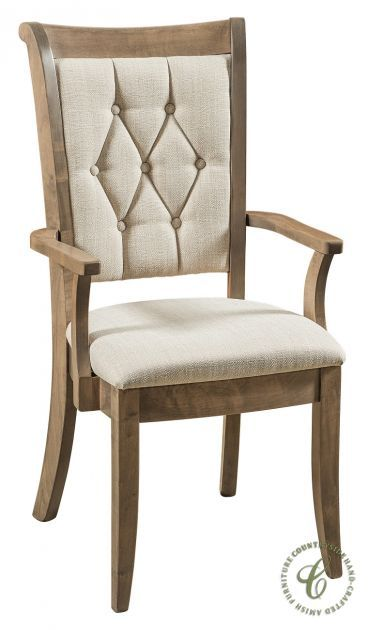 Our Tippi Tufted Dining Chair Is Handmade In Amish Country The Wood Frame Stained