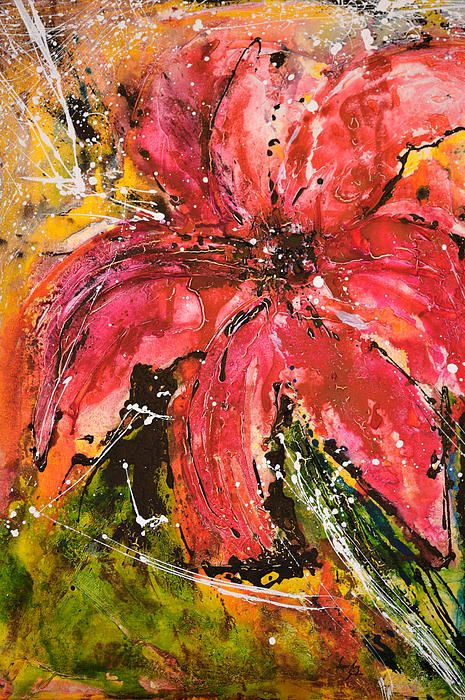 Flower Painting by Ismeta Greunwald