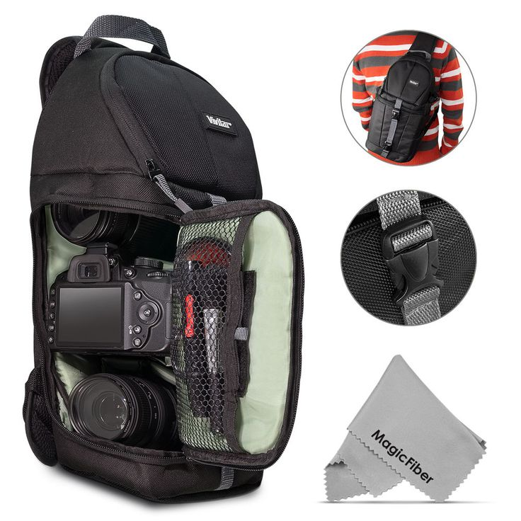 Your purchase includes(mouseover/click to view) :1 - Vivitar Digital DSLR/SLR Camera Sling BackPack. Digital DSLR/SLR Camera Backpack Case for Canon, Nikon, Sony, Panasonic, Olympus, Pentax and your photographic equipment. #camerabag #cameracase #camerabackpack #photography