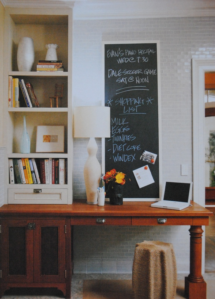 Redecorating ideas chalkboard space in kitchen for for Redecorating room ideas
