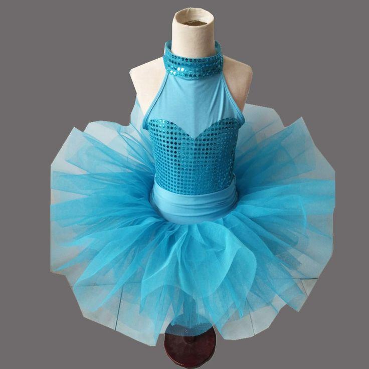 Girl sleeveless balle tutu skirt gymnastics leotard for Kid blue ballet leotard for girls professional ballet tutu for woman #Affiliate