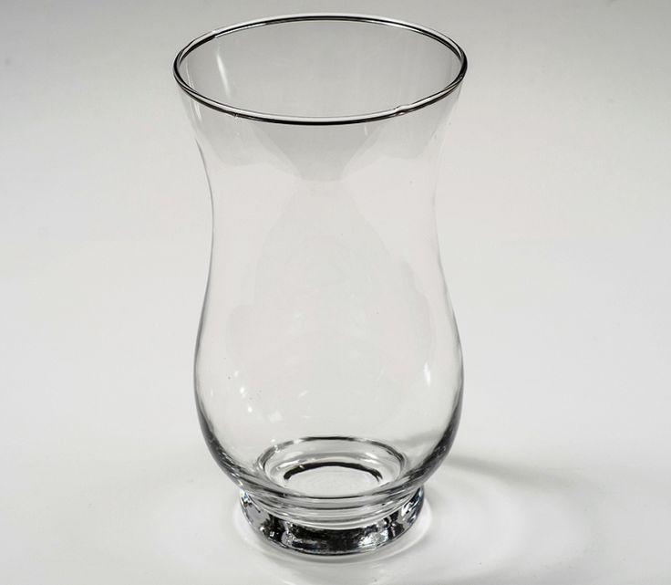 """Hurricane Vases - 7.5"""" Clear Glass Hurricane Vase"""