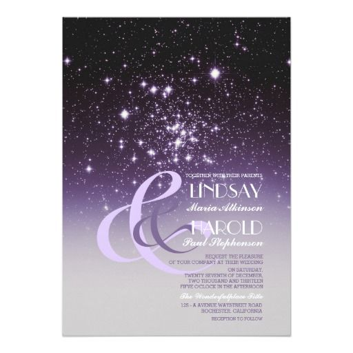 Night Sky Stars Romantic Wedding Invitations
