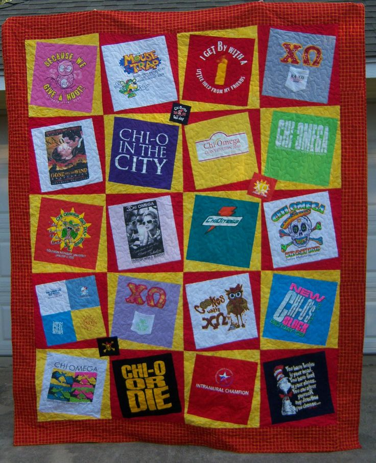 17 Images About T Shirt Quilts On Pinterest Chi Omega