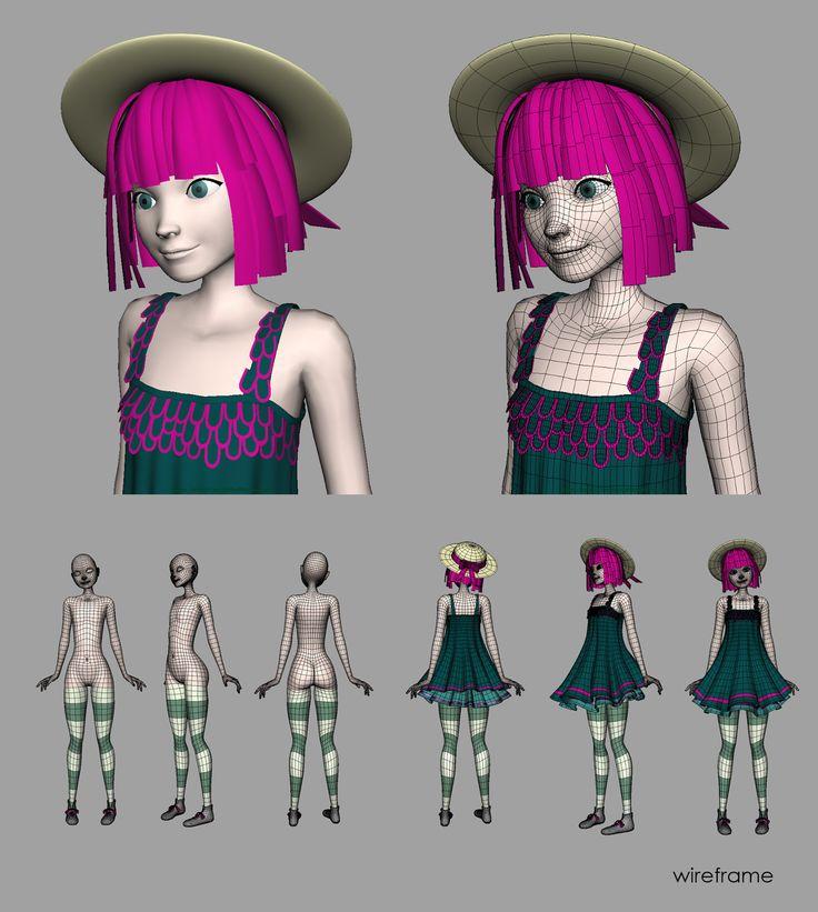 Jonathan Navarro / 3D Artist: Girl Character / WIP