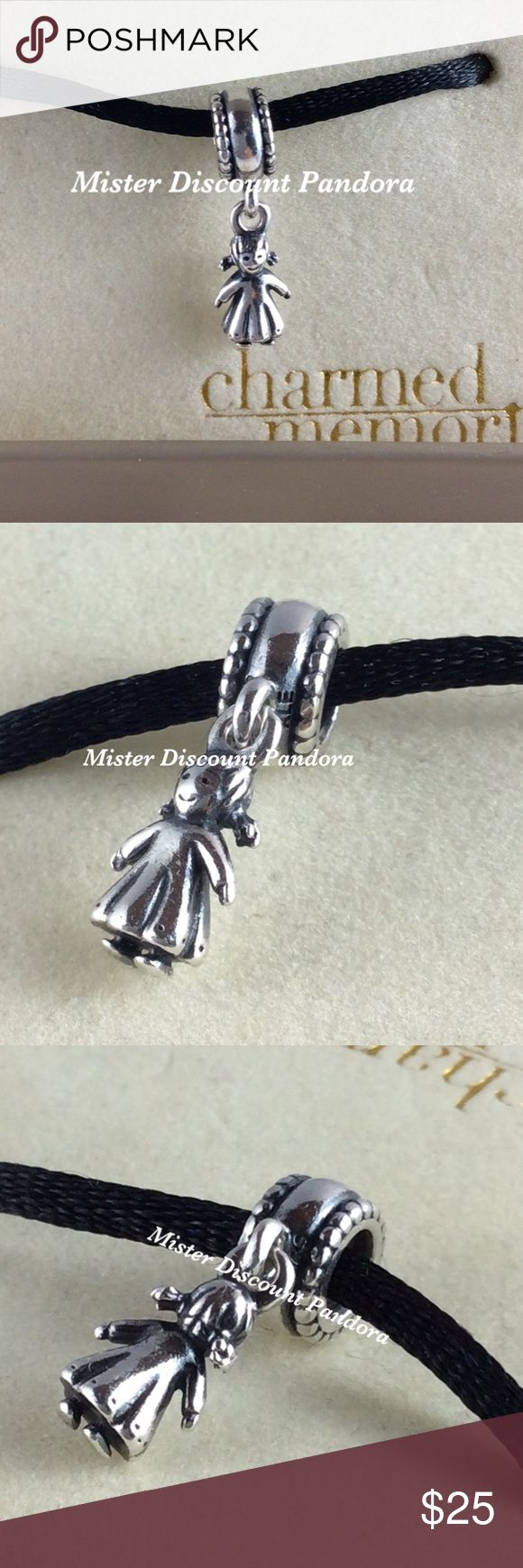Pandora Retired My Little Girl Charm Authentic Pandora Retired My Little Girl Charm #790860.  Condition: Excellent used condition. Signature markings Ale/925.  🔹3 Available for sale Pandora Jewelry Bracelets