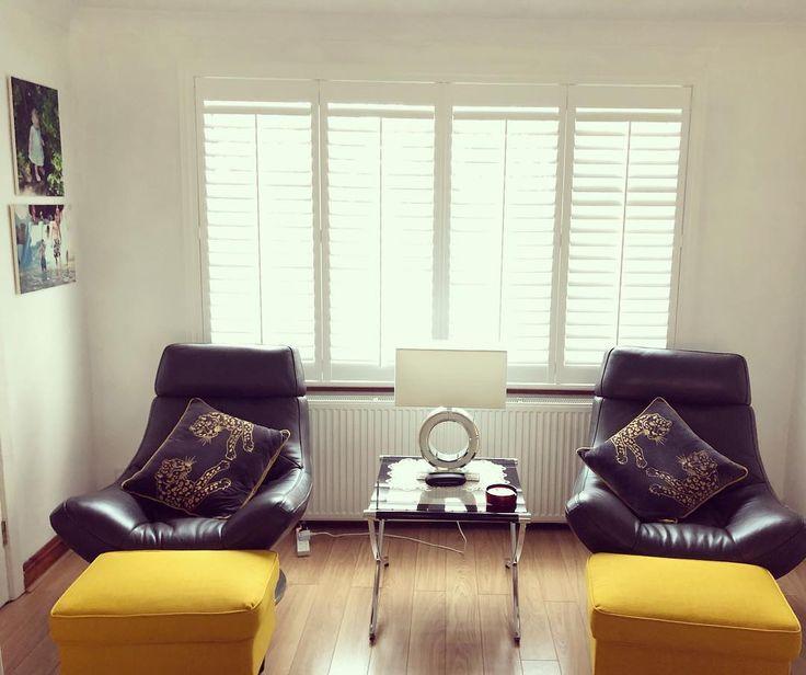 One of our shutter jobs recently completed in Dublin 18 #livingroomdecor #shuttersdublin #shuttersireland #blackandgold #recent #irishhomes #happycustomers #livingroommakeover