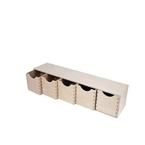en bois Mini commode 5tiroirs Meuble de rangement organiseur vertical Tier en 2020 | Meuble ...