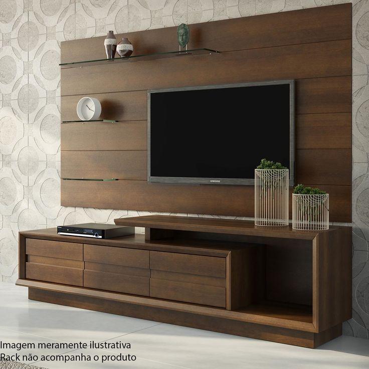o painel alm de garantir mais praticidade na organizao da sala de estar um timo lcd unit designrackstv - Lcd Walls Design