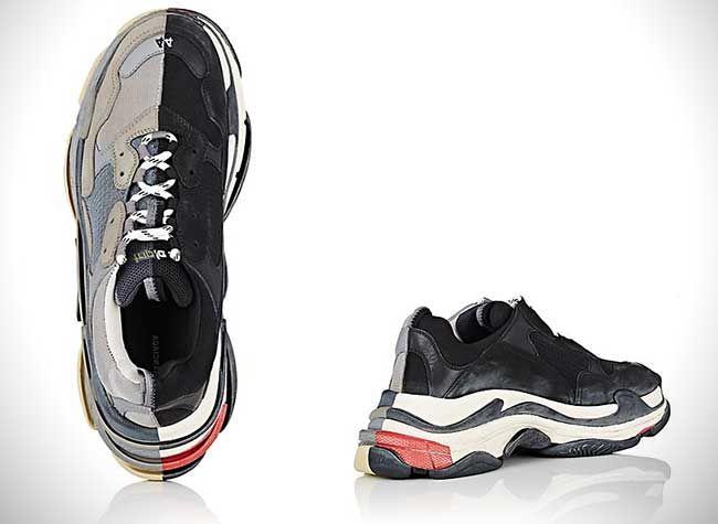 New Balenciaga Triple S Half & Half Sneakers. #balenciaga