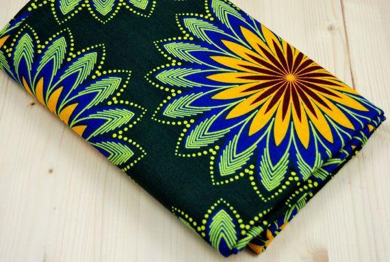 Flower African Fabric By The YardFabric Big Print by SuomiiFabrics