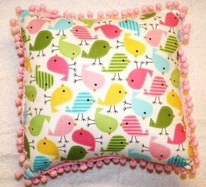 Birdsong Children's Pillow