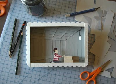 another: Paper Craft, Papercraft, Shadow Box, Depth Of Field, Space, Creative Artwork