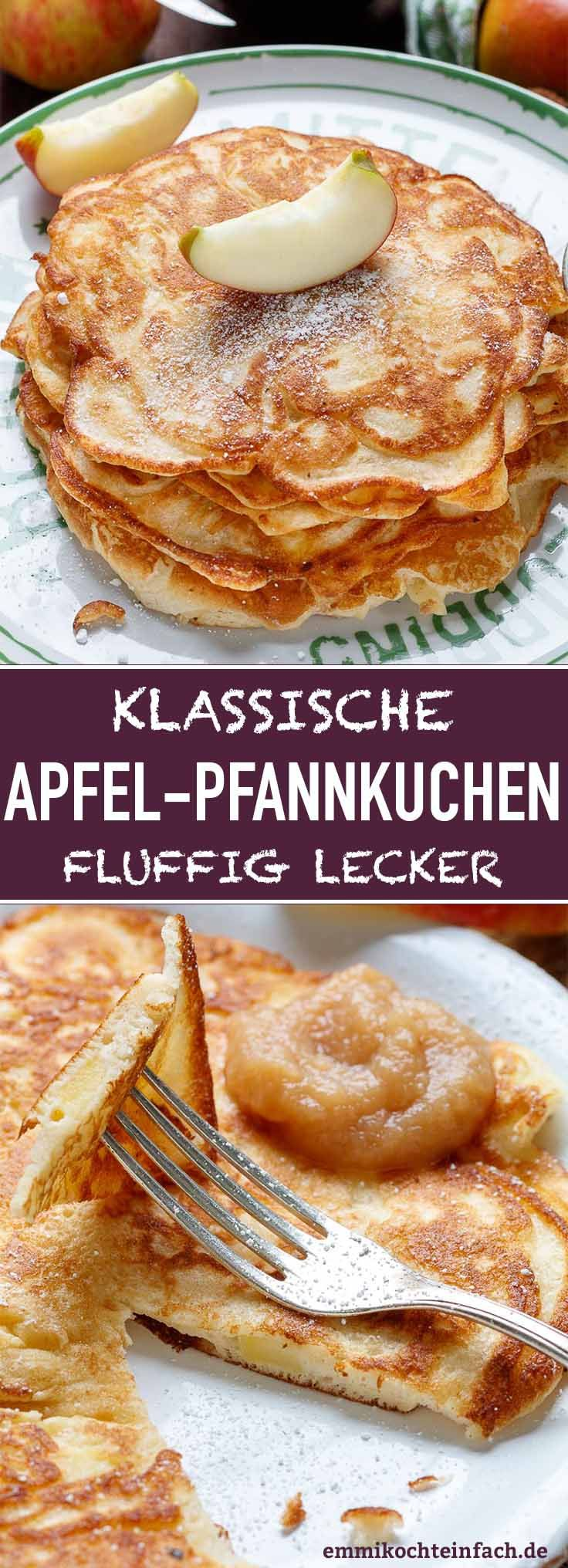 Apple pancakes classic and fluffy