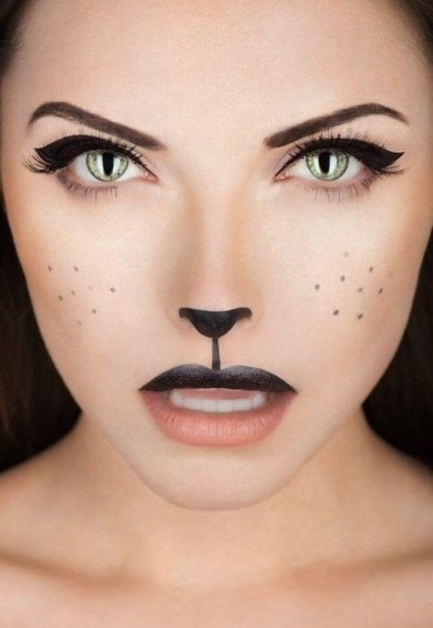 New Women's adult makeup cat (kitty) Halloween costume 2014 #halloween #makeup #costume