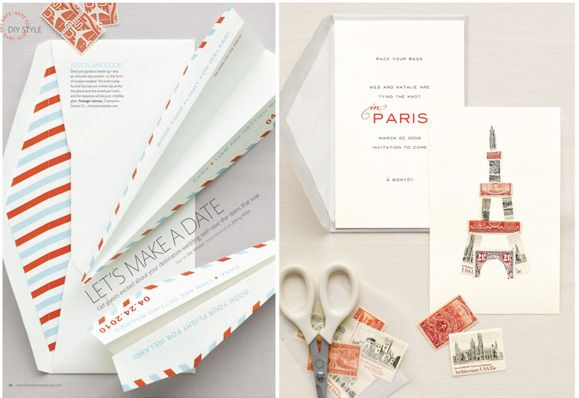 love this vintage looking stationary and what a great idea for Christmas letters