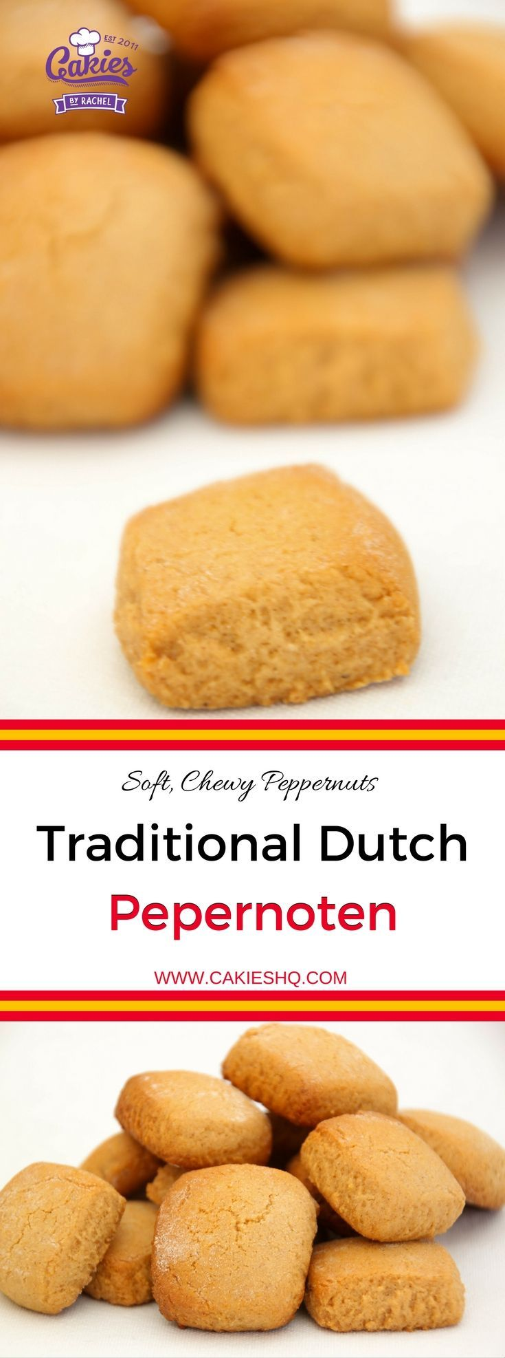 Traditional Dutch Pepernoten are more soft and chewy versus the crunchy pepernoten. A nice recipe for Sinterklaas, Thanksgiving or Christmas